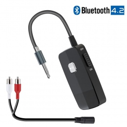 Bluetooth 4.2 odbiornik przenośny bezprzewodowy HiFI Audio Adapter z 3.5mm RCA Jack dla domowego zestawu Stereo strumieniowego p