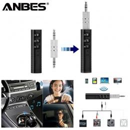 ANBES Mini Bluetooth odbiornik Bluetooth nadajnik dźwięku 3.5mm Jack zestaw głośnomówiący zestaw samochodowy Bluetooth muzyka Ad