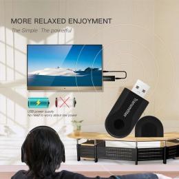 Mini bezprzewodowy nadajnik bluetooth Stereo kabel AUX dla TV telefon PC Y1X2 MP3 MP4 TV PC wtyczka USB
