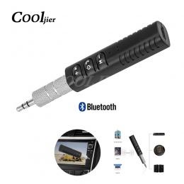 Mini Bluetooth odbiornik samochodowy Bluetooth Aux uniwersalny 3.5mm jack połączenie bez użycia rąk bezprzewodowy nadajnik audio