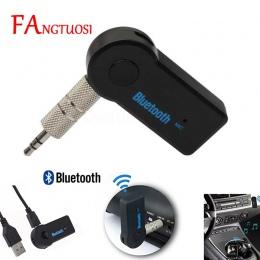 Samochodowy Bluetooth AUX 3.5mm Jack odbiornik Bluetooth zestaw głośnomówiący Bluetooth Adapter bezprzewodowy nadajnik samochodo