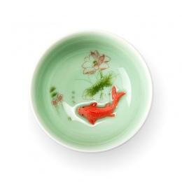 Chiński kubek herbaty porcelany seledyn ryby filiżanka do herbaty zestaw czajniczek Drinkware ceramiczne chiny Kung Fu zestaw he