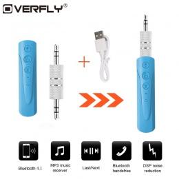 Przelot nad bezprzewodowy zestaw słuchawkowy Bluetooth 4.1 Adapter Audio Converter 3.5 Jack muzyki recepcja odbiornik Audio aux