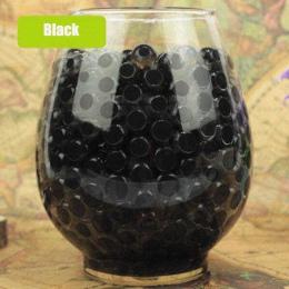 Czarny kryształ gleby błoto 100 sztuk rosną wody koraliki śliczne hydrożel magia żel galaretki piłki Orbiz Sea dzieci dla wazon