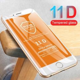 11D zakrzywiona krawędź szkło ochronne dla iPhone 7 8 6 6 S Plus hartowanego ochraniacz ekranu dla iPhone 8 7 6 6 s folia szklan