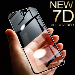 7D ze stopu aluminium ze stopu aluminium szkło hartowane dla iPhone 6 6 S 7 Plus pełna ochronna do ekranu dla iPhone X 8 5 SE 5S