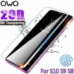 20D pełna folia ochronna na wyświetlacz z zakrzywionymi krawędziami do Samsung Galaxy S9 S10 S8 Plus uwaga 8 9 A50 szkło hartowa