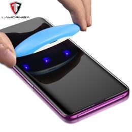 UV szkło hartowane dla Samsung Note 9 8 S9 S8 S7 krawędzi 5D pełna klej w płynie ochronne na ekran do Samsung galaxy Note 8 S8 S