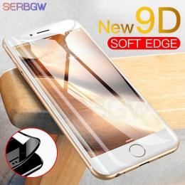 Nowy 9D zakrzywione pełna pokrywa szkło hartowane dla iPhone X XR XS Max ochraniacz ekranu dla iPhone 8 7 6 6 s Plus folia ochro