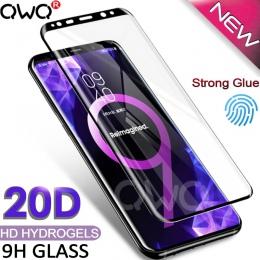20D zakrzywione szkło hartowane dla Samsung Galaxy s8 S9 S10 plus uwaga 9 8 A7 2018 ochronne na ekran do Samsung a50 a70 s10E +