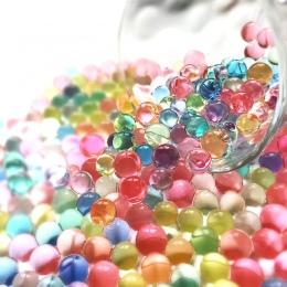 1000 sztuk/worek w kształcie perły hydrożel kryształowe wodne kuleczki do gleby Bio Gel Mud rozwijaj magiczne Jelly piłki Orbiz