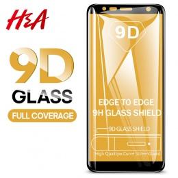 H & A 9D szkło hartowane dla Samsung Galaxy J4 Plus J6 J8 A6 A8 A7 2018 ochraniacz ekranu A5 a3 A7 2017 szkło ochronne Film