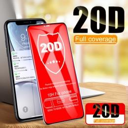 20D zakrzywione pełne etui do Edge szkło ochronne dla iPhone 7 8 6 6 S Plus hartowanego ochraniacz ekranu dla X XR XS Max folia