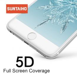 Suntaiho do iphone 7 szkło iphone 6 S X 8 Plus szkło hartowane dla iphone X XR XS Max ochraniacz ekranu 5D pełna pokrywa zimna r