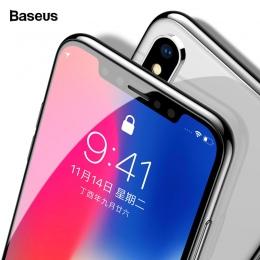 Baseus 0.3mm ochraniacz ekranu szkło hartowane dla iPhone Xs Max X Xr S 3D pełna pokrywa szkło ochronne dla iPhone xs max ochron