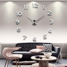 2019 darmowa wysyłka nowy zegar zegarek zegary ścienne Horloge 3d Diy akrylowe naklejki na lusterka dekoracji domu salon igły kw