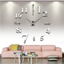 New arrival zegary kwarcowe mody zegarki 3d prawdziwe duży zegar ścienny rzucili lustro naklejki diy salon wystrój darmowa wysył