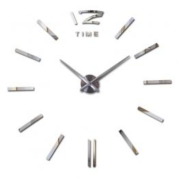 Oferta specjalna 3d duże akrylowe lustrzany zegar ścienny krótkie diy zegarek kwarcowy martwa natura zegary dekoracja do domu sa