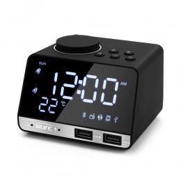 Wżycie K11 Bluetooth 4.2 radio z budzikiem głośnik z 2 portami USB LED cyfrowy budzik zegar do dekoracji domu drzemka zegar stoł