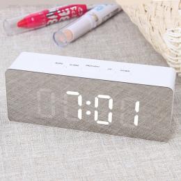 Piosenka JULY'S lustro LED cyfrowy budzik lampki nocne termometr zegar ścienny lampa prostokąt kwadratowy wielofunkcyjny zegary