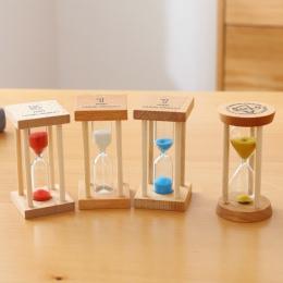 Akcesoria do dekoracji domu klepsydra 3 minut klepsydra szkiełko zegarowe drewna Mini 5 minut prysznic zegar ślub sprzyja SL-MZY