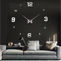 Duży zegar ścienny zegarek 3d zegary ścienne de pared dekoracji domu 3d naklejki ścienne specjalny salon akcesoria do dekoracji