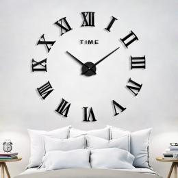 2019 nowy dekoracji domu zegar ścienny duży lustrzany zegar ścienny nowoczesny Design duży rozmiar zegary ścienne DIY naklejki ś