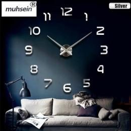 2019 nowy dom dekoracji ściany zegar duży lustrzany zegar ścienny nowoczesny design duży rozmiar zegary ścienne diy naklejki ści