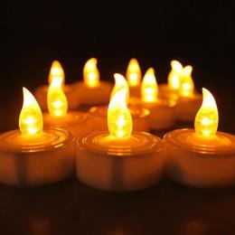 24 sztuk LED świeczki tea light Householed velas led zasilane baterią bezpłomieniową świece kościół i dekoracji wnętrz i oświetl
