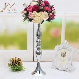 """3 kolory metalowe świeczniki 50 cm/20 """"kwiat stojak na wazon świecznik ślub tabela budynkiem zdarzeń ołowiu drogowego świeczniki"""