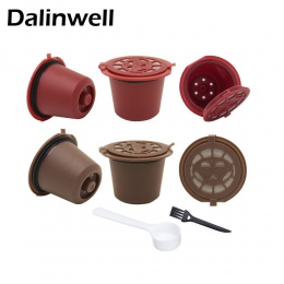 4 sztuk filtr do kawy 20 ml wielokrotnego użytku kapsułki kawy do ponownego napełniania filtry do kawy Nespresso z łyżeczką szcz