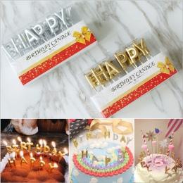 Różowe złoto srebro czerwony kartka urodzinowa tort urodzinowy Party Supplies Festival piękne świeczki urodzinowe do kuchni piec
