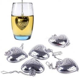W kształcie serca w kształcie serca zaparzacz do herbaty łyżka sitko ze stali nierdzewnej ostrzejszy Uchwyt prysznicowy