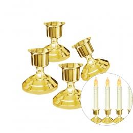 2 sztuk srebrny/pozłacane świecznik naklejki świece uchwyt do świece fałszywe zwęża się boże narodzenie Party dekory uwalnia sta
