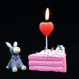 1 sztuk czerwone serce miłość świeczka tortowa bezpieczne płomienie dzieci urodziny wesele świeczka tortowa dekoracja domu sprzy