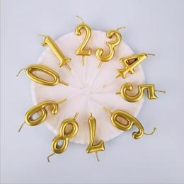 Złoty srebrny numer świece na ciasto Shimmer i czyszczenie Party ciasto Topper świeca dla dzieci urodziny rocznica strona dekora