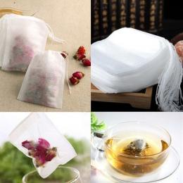 100 sztuk/partia torebki 5x7 CM puste torebki herbaty z sznurkiem uszczelnienia filtr do herbaty herbata luźna