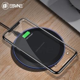 ESVNE 5 W Qi bezprzewodowa ładowarka samochodowa do iPhone X Xs MAX XR 8 plus szybkie ładowanie dla Samsung dla S8 S9 plus uwaga