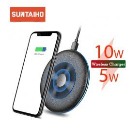 Qi bezprzewodowa ładowarka 5 W/10 W Suntaiho ładowarka do telefonu bezprzewodowego szybko stacja do ładowania ładowarka dla ipho