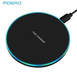 FDGAO 10 W szybka bezprzewodowa ładowarka do Samsunga Galaxy S9/S9 + S8 S7 uwaga 9 S7 krawędzi USB podstawka ładująca QI dla iPh