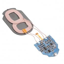 Wysokiej jakości 10 W Qi szybkie ładowanie bezprzewodowa ładowarka PCBA płytka drukowana z podwójnym 2 cewki bezprzewodowego ład