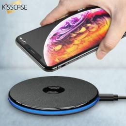 KISSCASE szybka bezprzewodowa ładowarka qi dla iPhone X/XS Max 8 Plus USB ładowarka bezprzewodowa ładowarka Pad przenośne szybki