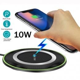 Dla Huawei P30 Pro Mate20 Pro Samsung S10 e/S9/S7/S8 iPhone XS Max/X xiaomi Mix 2 S/3 10 W Qi bezprzewodowa ładowarka szybkiego