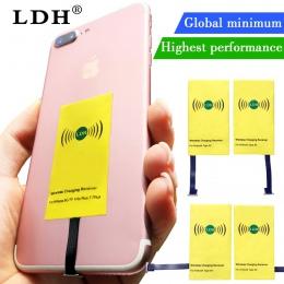 LDH Qi odbiornik bezprzewodowy ładowarka dla iPhone 7 6 6 s 5 Plus bezprzewodowy ładowanie Micro typu C adapter do Samsunga Xiao