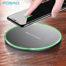 FDGAO QI 10 W szybka ładowarka bezprzewodowa dla iPhone XS Max XR X 8 QC 3.0 szybkie ładowanie dla Samsung dla S10 S9 s8 uwaga 9