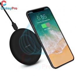 CinkeyPro bezprzewodowa ładowarka do ładowania Pad na iPhone 8 10 X dla Samsung S7 S8 5 V/1A Adapter ładowanie mobilne telefon Q