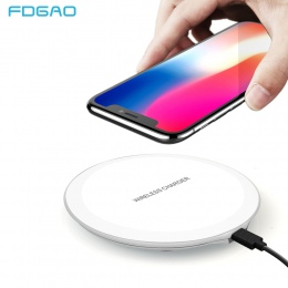 FDGAO Ultra cienki Qi bezprzewodowa ładowarka do iPhone X XS MAX XR 8 stacja do ładowania dla Samsung S8 S9 Plus uwaga 9 8 ładow