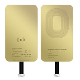 Ultracienki Qi bezprzewodowy odbiornik ładowania MicroUSB typu C moduł odbiornika dla IPhone 5SE 6 S 7 Plus samsung xiaomi huawe