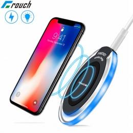 Crouch Mini Qi bezprzewodowa ładowarka samochodowa do iPhone X XS Max XR 8 Plus szybka bezprzewodowa ładowarka do Samsung galaxy
