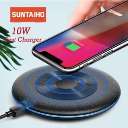 Bezprzewodowa ładowarka Qi 10 W dla Xiao mi mi 9 mi 9 dla iPhone XR XS Max Suntaiho stacja do ładowania Cradle ładowarka do Sams